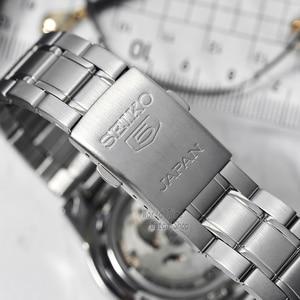 Image 4 - Seiko שעון גברים 5 אוטומטי שעון למעלה מותג יוקרה ספורט גברים שעון סט עמיד למים מכאני צבאי שעון Relogio MasculinoSNK
