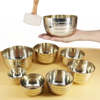 Himalayan Singing Bowl Sets Chakra Healing Tibetan Hammered Set of 7 Meditation Bowls Hand Bow Note