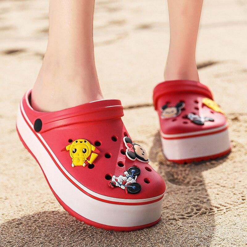 Summer Outdoor Sandals Women 2020 Platform Sandalias Mujer Clogs For Women Beach Crocks Women Crocs Garden Shoes Chanclas Mujer