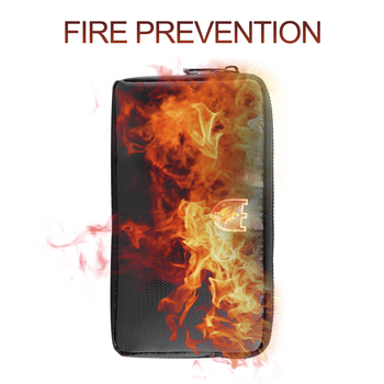 Portable Fireproof & Waterproof Document Envelope File Folder Cash Pouch Fireproof Money Bag Lipo Safe Bag for Home Office high quality lipo li po battery fireproof safety guard safe bag 215 45 165mm toys wholesale free shipping