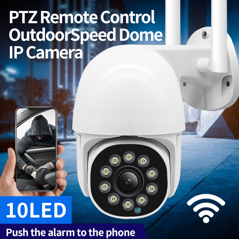 2020 1080P WiFi PTZ Camera IP Auto Tracking IR LED 2MP Audio CCTV Security Camera 4X Zoom Speed Dome Wireless Camera Cloud