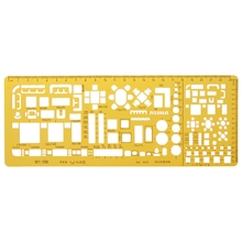 Professional Architectural Template Ruler Drawings Stencil Measuring Tool Supply R91A