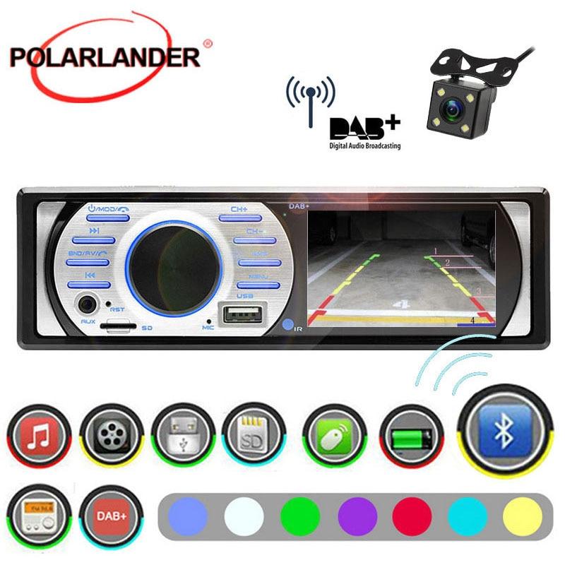 "3/"" HD 1 Din Car DAB Camera Radio Stereo FM AM WMA Bluetooth In-Dash MP5 Player"