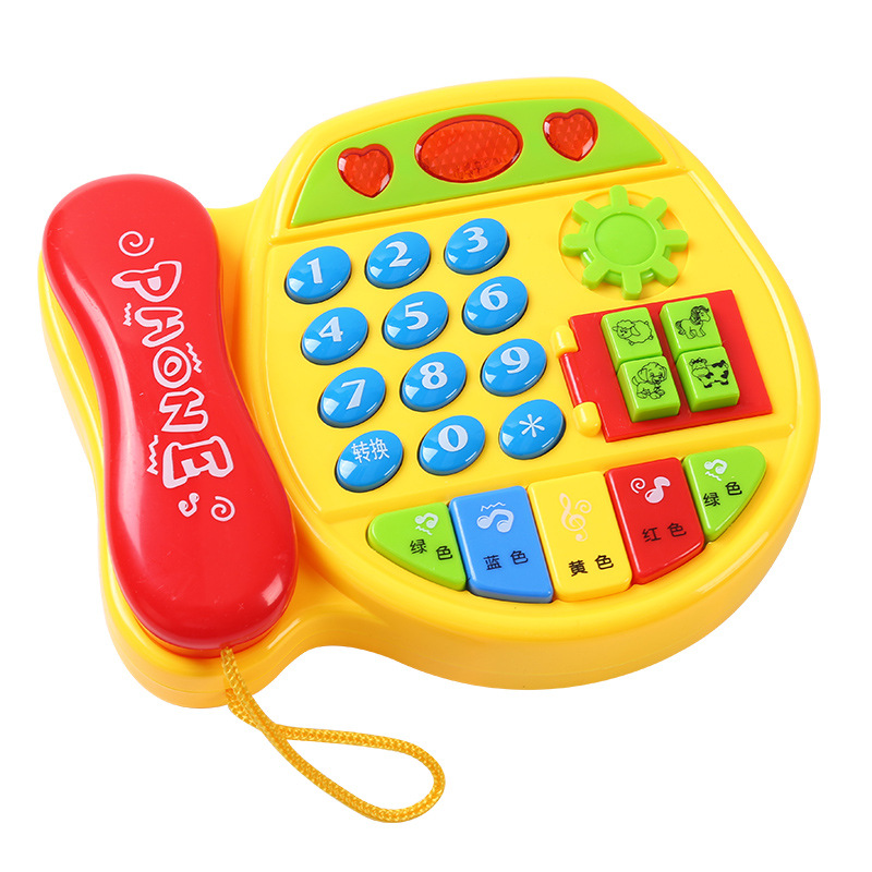 Infants Toys For Children Phone Set Infant Early Education Kids Educational Music Mobile Phone Baby 0-1-3-Year-Old 12 Months
