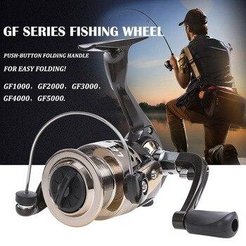 цена на LINNHUE 2020 New Fishing Reel HE1000-7000 Max Drag 10kg Reel Fishing 5.2:1 High Speed Metal Spool Spinning Reel Saltwater Reel