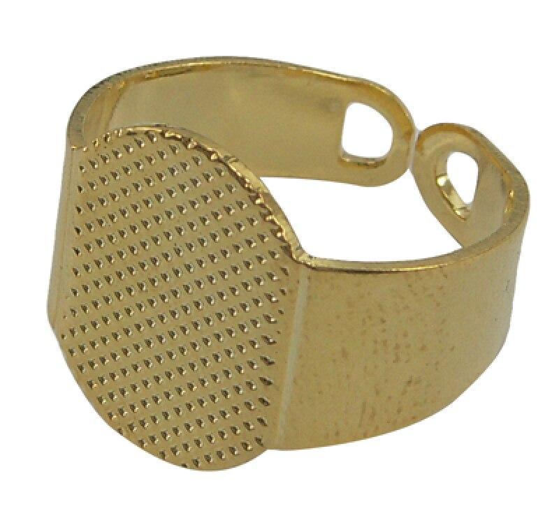 Image 5 - 200 sztuk/partia rozmiar 6 (16.5mm) mosiężny mankiet Pad płaski pierścień bazy pierścienie ustawienie komponenty z 15x11mm taca hurtowniring basebrass ring basebase pad -