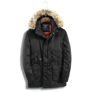 2020 new winter warm pakas jackets casual men's long hooded thick coats canada coat military fur hood warm trench