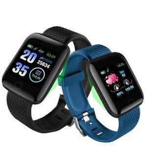 Image 3 - 116 בתוספת חכם שעון גשש כושר קצב לב שעון לחץ דם מד צעדים שעון חכם שינה צג עמיד למים חכם להקה