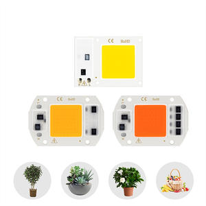 Grow-Light Smart-Ic-Chip Outdoor-Plant-Floodlight AC220V Cold Led 50W for DIY White Warm