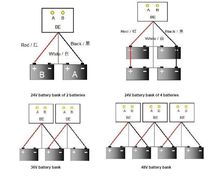 24 36 48v conectada na série paralela