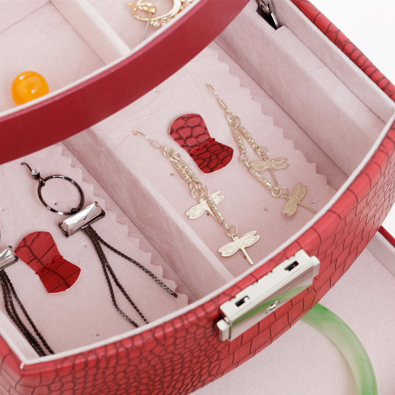 Automatic Jewelry Box 3 layers Jewelry case  Jewel Package Storage  For Holding Ring Necklace Bracelet Earring Festival Gift
