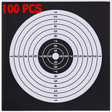 Target-Paper Shooting Air-Rifle Airsoft Tactical for Funnel-Bullet-Trap-Pellet-Trap 100PCS