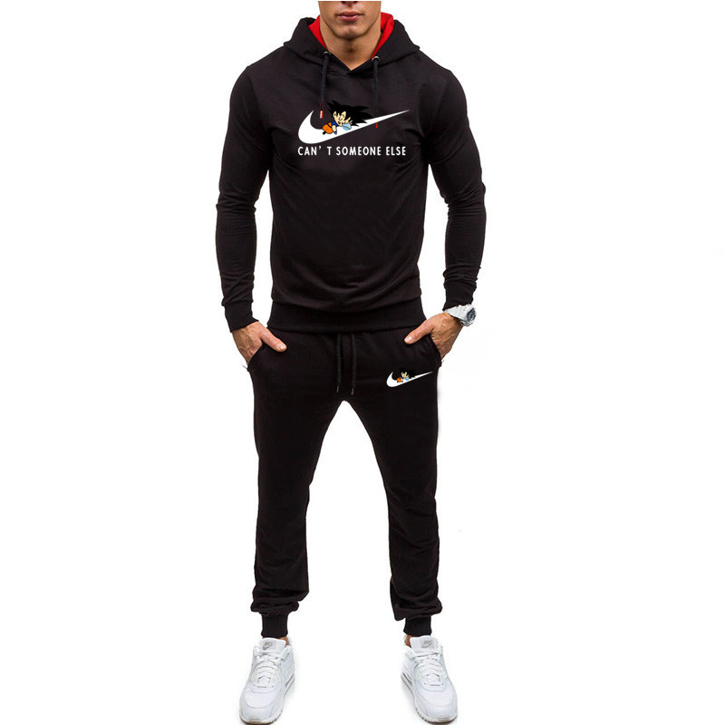 Hot Men's Sportswear Hooded Pants Set Spring Track Suit Set Men's Casual Tracksuit Sweatshirts Coats Jogging Street Clothes