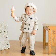 Новое поступление 2021 года смокинг для маленьких мальчиков/костюм