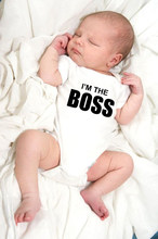 I'm The Boss Baby Romper Newborn Toddler Infant Boy Girl Funny Jumpsuit Playsuit Outfits Summer Sunsuit Short Sleeve Clothes(China)