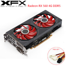 XFX Radeon RX 560 4GB DDR5 Grafiken Karten AMD GPU 128 Bit RX 560D Gaming PC Video Karten Desktop computer Gamer Verwendet RX560 Karte