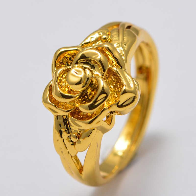ผีเสื้อดูไบแอฟริกันขนาดเล็กสีทองแหวนผู้หญิงอาหรับตะวันออกกลางเครื่องประดับเล็ก Bangs ผู้หญิง Mama ที่ดีที่สุดของขวัญ