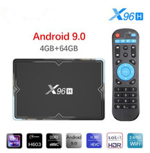 X96H Allwinner H603 Smart TV Box Android 9.0 4GB 32GB 64GB Media player 4K  Netflix Youtube Streaming