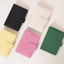 A5 A6 Macaroon Laser Color Crocodile pattern  DIY Binder Notebook Cover Diary Agenda Planner Bullet Cover School Stationery