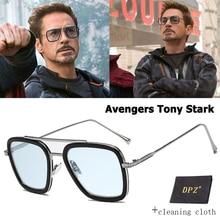 DPZ Fashion Avengers Tony Stark Flight Style aviation Sunglasses Men
