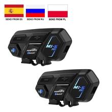 Fodsports 2 pièces M1 S Pro casque de moto Interphone bluetooth casque 8 cavalier 2000M Interphone étanche groupe BT Interphone