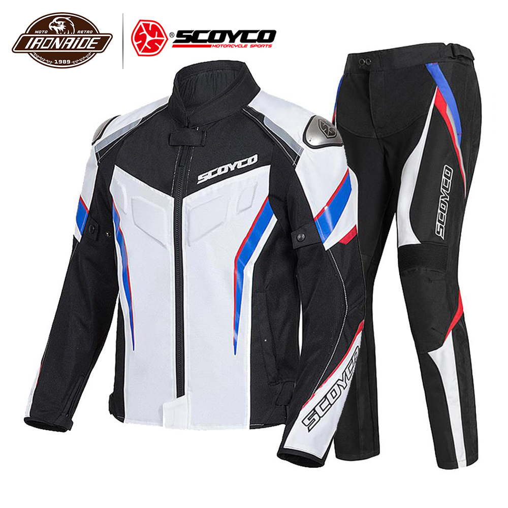 SCOYCO Man Motorcycle Jacket Body Armor Moto Jacket Riding Jacket Reflective Motocross Chaqueta Protective Gear Clothing
