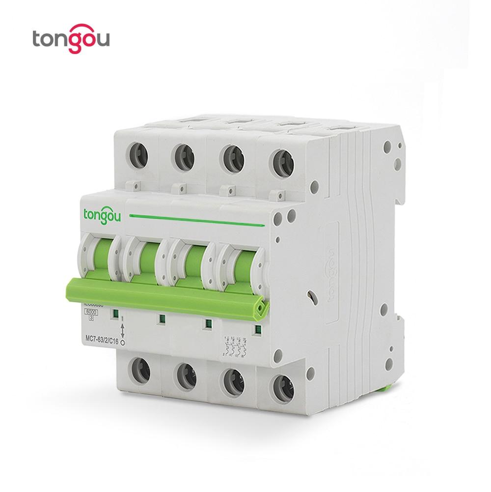 Image 5 - 3P 4P 6A 10A 16A 20A 25A 32A 40A 50A 63A Miniature Circuit Breaker 6KA 110V/220V/400V 50/60HZ MCB TOMC7 63-in Circuit Breakers from Home Improvement