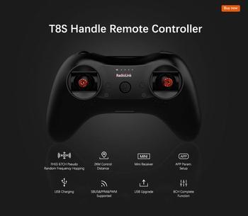 Radiolink T8S 8CH Mini RC Transmitter and R8FM R8EF Receiver 2.4G Radio Remote Handle Gamepad Controller 4