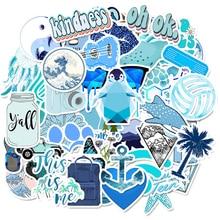 50 pçs dos desenhos animados azul vsco adesivos para crianças brinquedo adesivo à prova ddiy água para diy mala portátil bicicleta capacete do carro decalques f4
