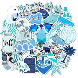 Image 1 - 50 sztuk Cartoon niebieski VSCO naklejki dla dzieci zabawki wodoodporna naklejka na DIY walizka Laptop kask rowerowy naklejki na samochód F4