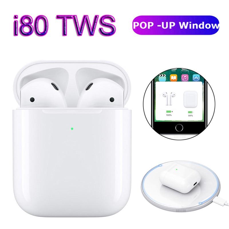 I80 tws sem fio bluetooth 5.0 fone de ouvido i 80 pop up fones controle toque para iphone xiaomi pk i10 i30 i60 i90 i100 tws