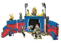 10749 516pcs Super Heroes Thor vs. Hulk Arena Clash Ragnarok Guard Stage Model Building Blocks Toys Bricks Compatible Legoinglys