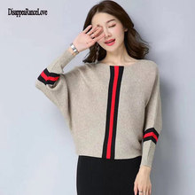 цена 2019 Fashion New Sweater Women Wave Hem Autumn/Winter Student Round Neck Sweater And Pullover Sweet Ruffled Knit Sweater