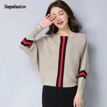 цена на 2019 Fashion New Sweater Women Wave Hem Autumn/Winter Student Round Neck Sweater And Pullover Sweet Ruffled Knit Sweater