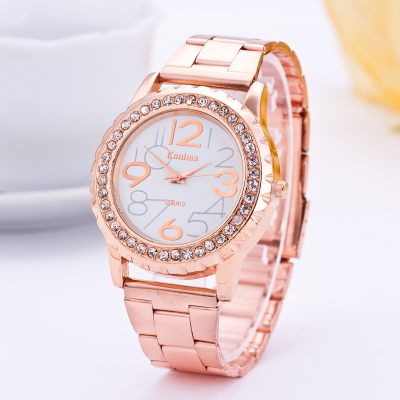 Numerals Women Watch Stainless Steel Exquisite Watch Women Rhinestone Luxury Casual Quartz Watch Relojes Mujer 2019 New Arrivals