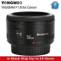 YONGNUO YN50mm YN50 F1.8 EF EOS 50MM MF de la Lente de la cámara para Canon Rebel T6 EOS 700D 750D 800D Mark II IV para teléfono de la Lente de la cámara