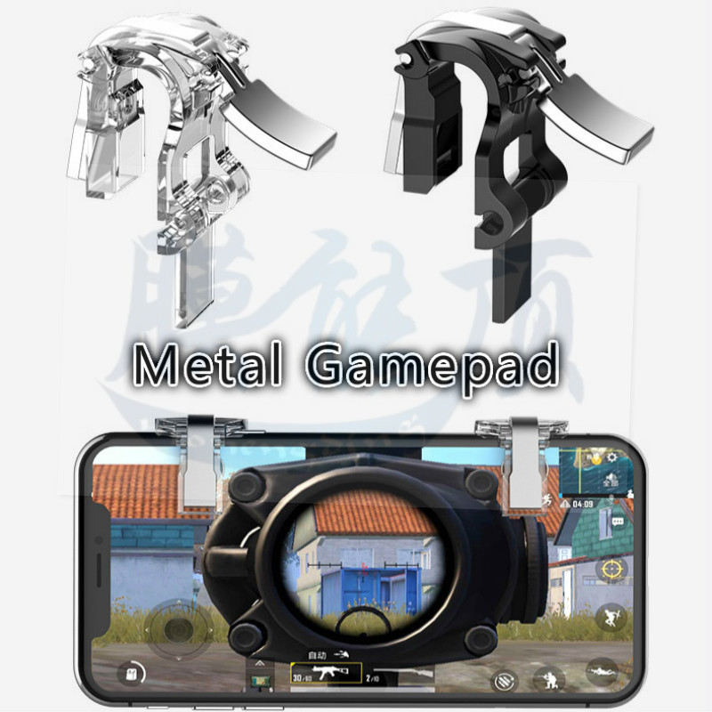 Metal Mobile Phone Trigger Joystick For PUBG Mobile Gamepad Fire Button Aim Key L1R1 Shooter Controller Button For IOS Android