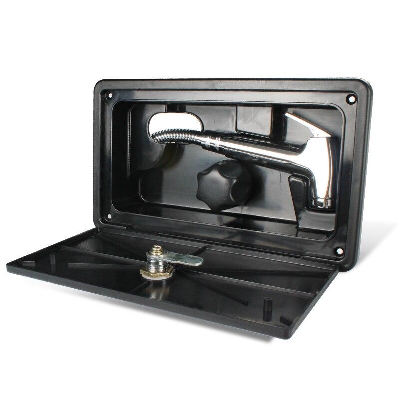 kit de boite de douche exterieure avec serrure pour camping car rv kit avec robinet de douche tuyau de douche baguette de douche blanc tytxrv