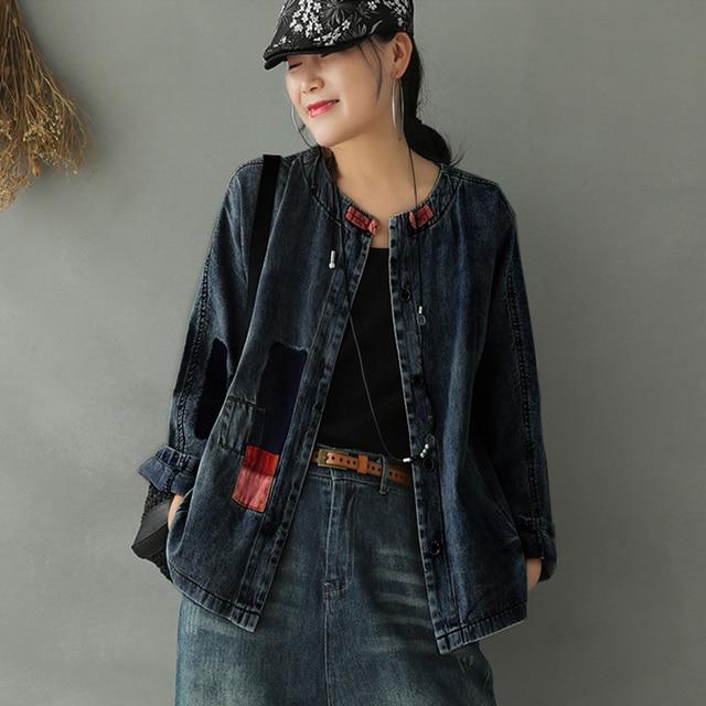 Max LuLu Autumn New Chinese Fashion Style Ladies Punk Denim Jackets Oversized Clothes Women Vintage Coats Gothic Streetwear