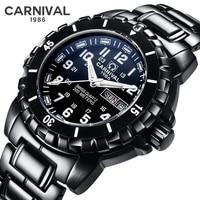 Carnival Tritium Luminous Men's Watches Military Waterproof 200M Diving Quartz Watch Men Luxury Casual Sports Wristwatches Clock