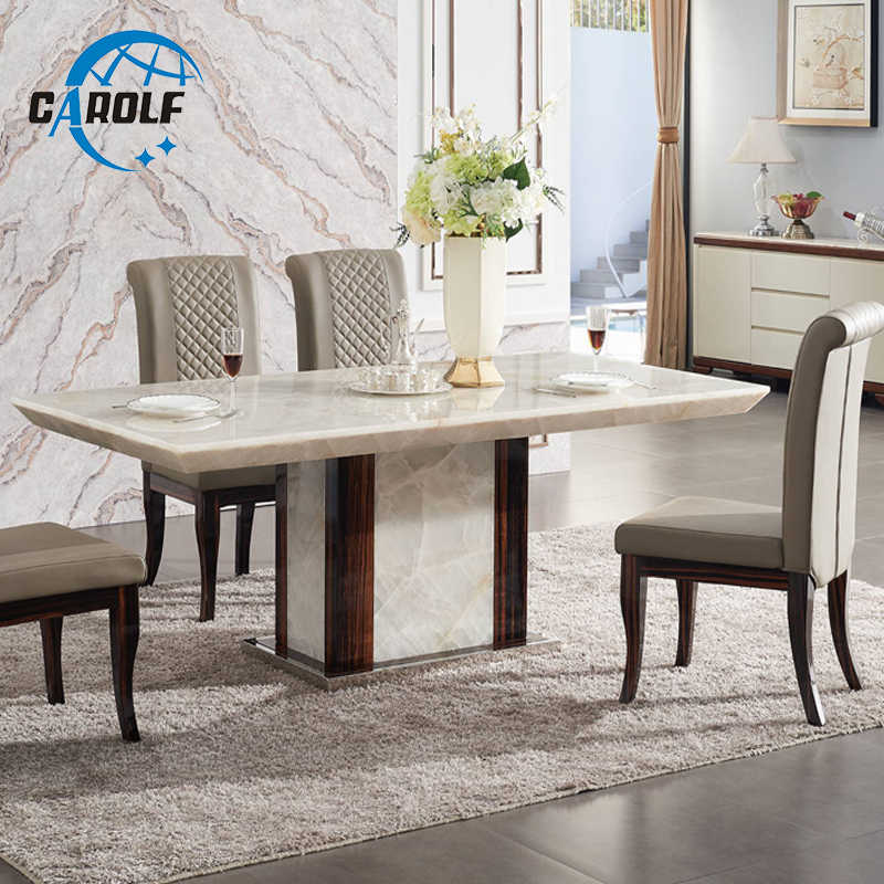 Modern dining table designs furniture marble stone 6 ...