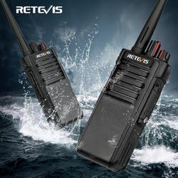 RETEVIS RT29 Leistungsstarke Walkie Talkie Wasserdicht IP67 EIN Paar UHF (oder VHF) lange Palette Zwei-weg Radio Walkie-Talkie Transceiver + Kabel