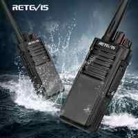 Rechape RT29 puissant talkie-walkie étanche IP67 une paire UHF (ou VHF) longue portée Radio bidirectionnelle talkie-walkie émetteur-récepteur + câble