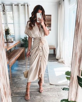 2021 Satin Lace Up Summer Women Bodycon Long Midi Vintage Backless Elegant Party Outfits Sexy Club Clothes Vestido Dress Robe 1