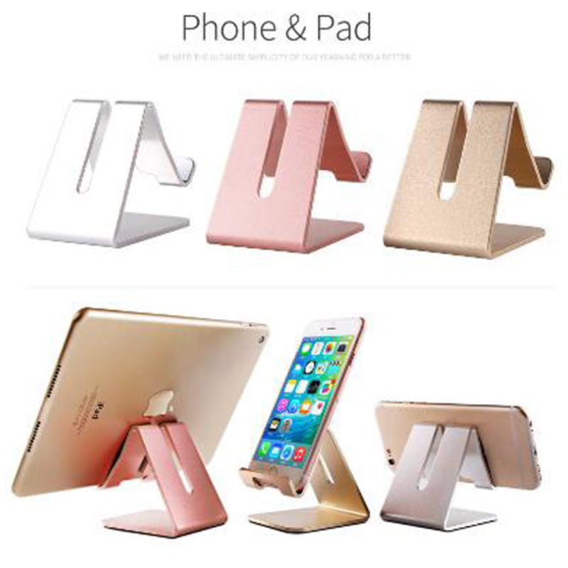 Mobile Phone Holder Stand Aluminum Alloy Metal Tablet Stand Universal Phone Holder For IPhone X / 8/7/6/5 Plus Samsung Phone