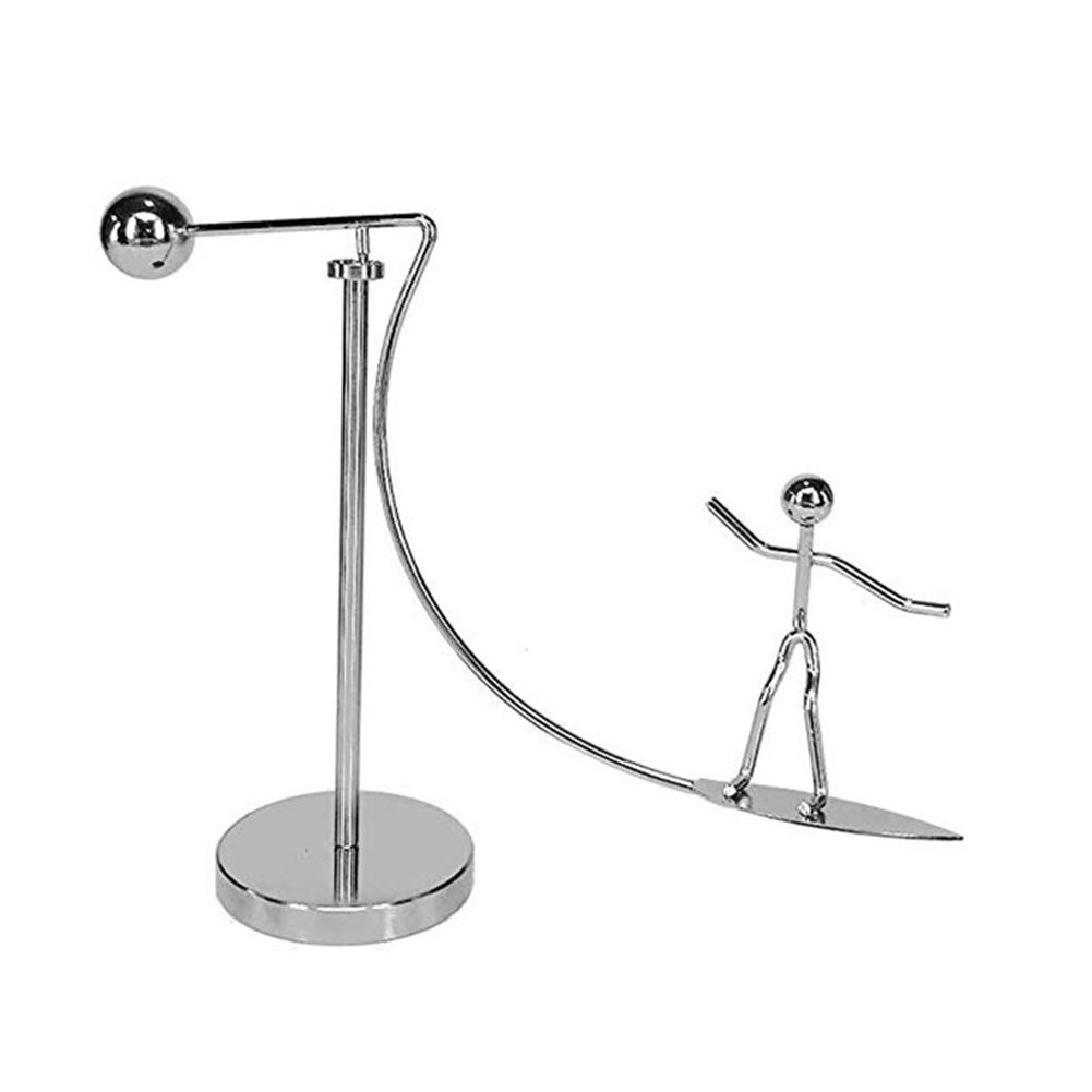 DIY Metal Surfing Man Mold Kinetic Motion Desktop Game Decompression Balance Toy Kids Educational Toys For Children Gift