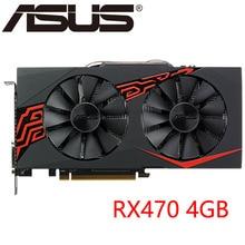 Видеокарта ASUS RX 470 4GB 256Bit GDDR5 Графика карты для AMD RX 400 серии VGA карты RX470 DisplayPort 570 580 480 б/у