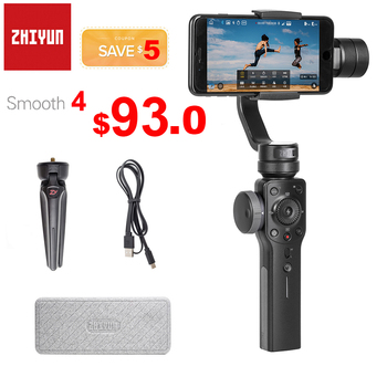Zhiyun Smooth 4 3-Axis Handheld Smartphone Gimbal Stabilizer for iPhone 11 Pro XS XR X 8Plus Samsung S10 S9 S9+ S8 PK DJI Osmo 2