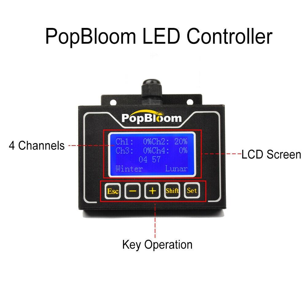 PopBloom lumière LED d'aquarium lampe à LED pour les appareils d'éclairage de réservoir d'eau douce meilleure couverture et contrôleur intelligent à spectre complet FI3SP2 - 2