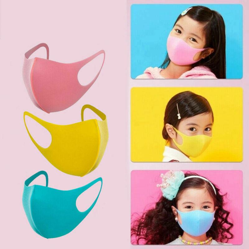 3Pcs Kids Boy Washable Anti Dust Sponge Mouth Mask 3D Reusable Health Anti Dust Anti Pollution Cover Protective Cold Prevention